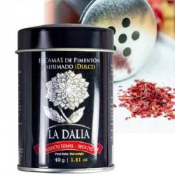 Premium Smoked Paprika FLAKES  - SWEET  or HOT -  DOP Pimenton de la Vera - La Dalia