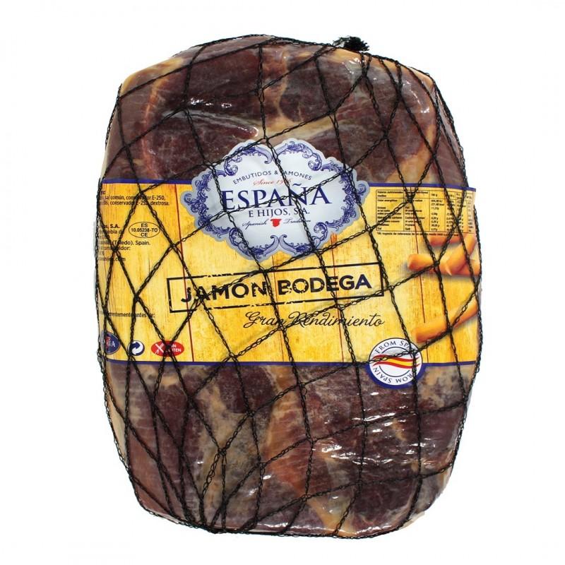 Boneless - Spanish Serrano Ham Cured - Whole Piece 4.5 Kg - Excellent Yields . Jamón Serrano Bodega